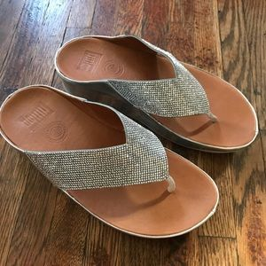 Fitflop Metallic Silver Sandals